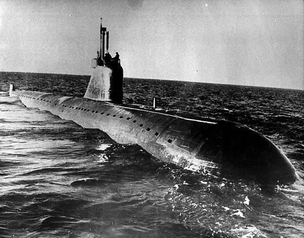 Первая атомная подводная лодка пр 627